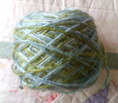 {silk yarn in beautiful blue-green colorway}