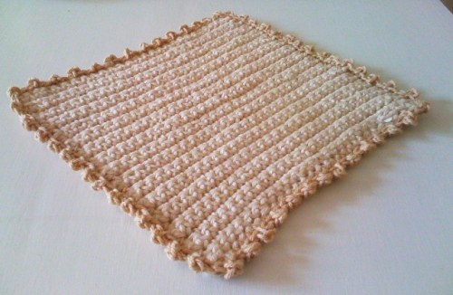 {an organic cotton washcloth!}