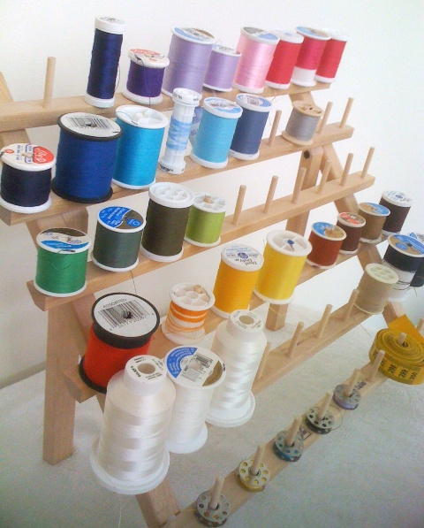 {a rainbow of thread}
