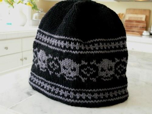 Skull Hat Knitting Pattern Knit Him a Skull Hat Way