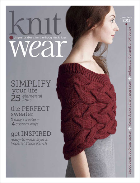 am in love with the cover of the new knitting magazine, knit. wear ...